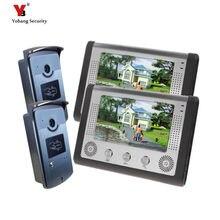 Yobang Security freeship Hot sell Home Intercom Wired 7″doorphones support unlock function survelliance 2 way intercom doorbell