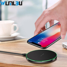 WLMLBU 10W Qi Wireless Charger For iPhone 8/X Fast Wireless Charging for Samsung S8/S8+/S7 Edge Nexus5 Lumia 820 USB Charger Pad