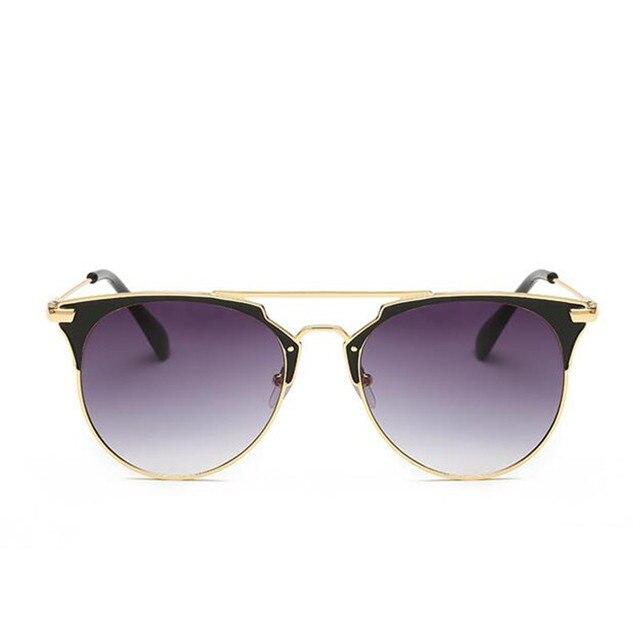 High Quality Cat Eye Sunglasses Women Brand Designer Pink Vintage Round Sun Glasses For Women Female Lady Sunglass Mirror Shades 3