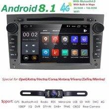 2G RAM Android 8,1 DVD del coche para Opel Vectra Antara Zefira Corsa Meriva Astra 4 núcleo Radio GPS Multimedia jugador unidad DAB SWC