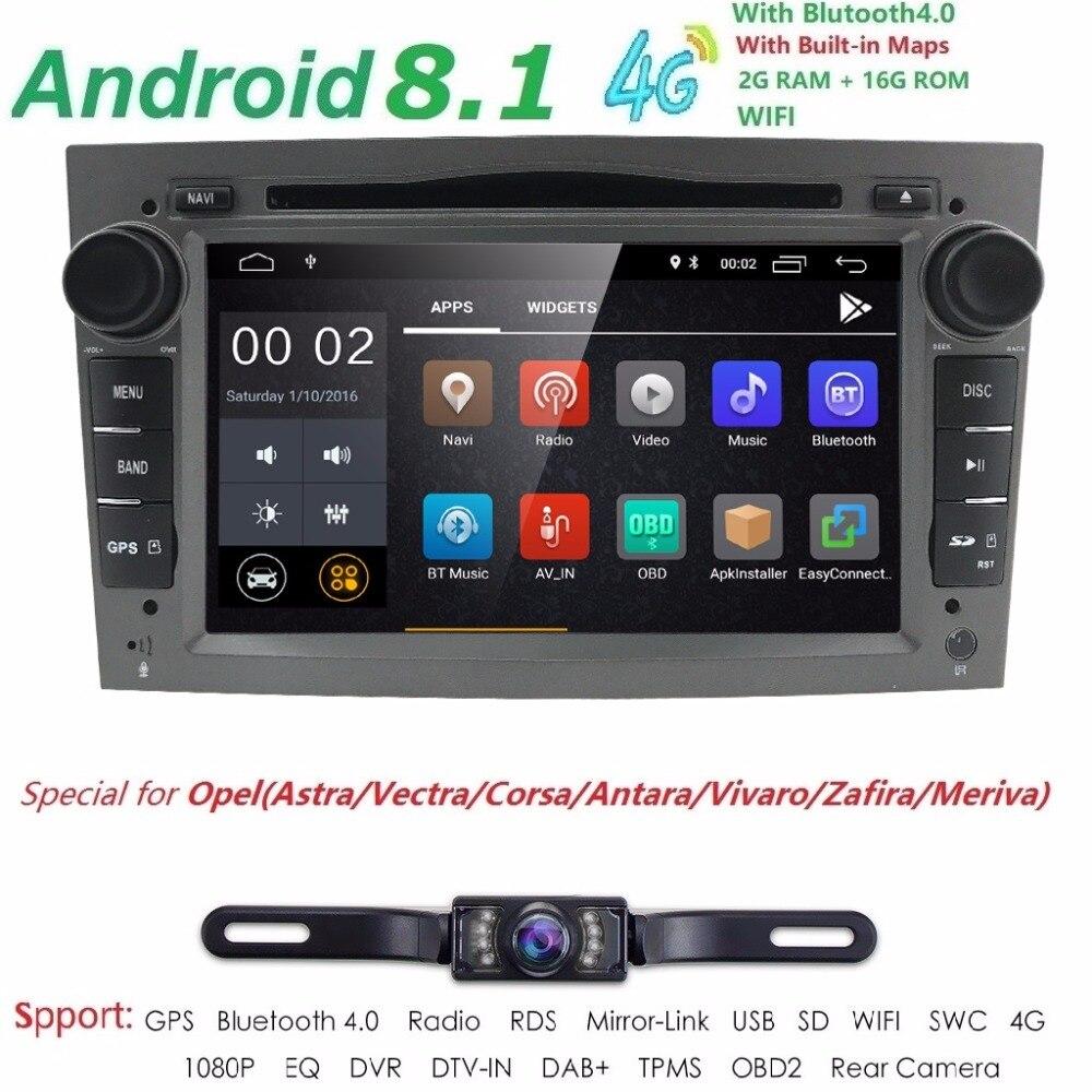 2G RAM Android 8.1 Car DVD For Opel Vectra Antara Zefira Corsa Meriva Astra 4 Core Radio GPS Multimedia Player Head Unit DAB SWC