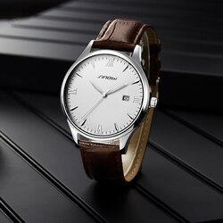 SINOBI męskie zegarki luksusowe wysokiej klasy ze stali nierdzewnej wodoodporny zegarek klasyczne świetliste dłonie kalendarz funkcja genewa nowy projekt