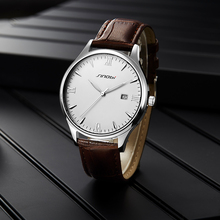 Sinobi 남성용 고급 시계 고급 스테인레스 스틸 방수 시계 클래식 빛나는 손 달력 기능 제네바 새로운 디자인