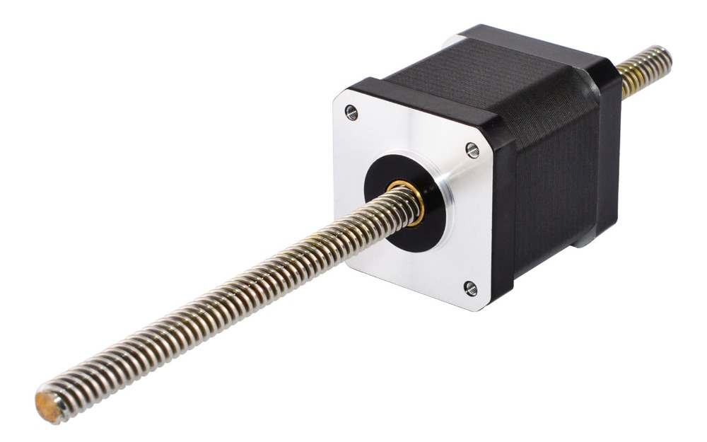 Nema 17 Non-captive Linear Stepper Motor 48mm Stack 168A Lead 8mm031496 Lead Screw Length 200mm