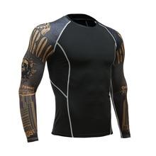 2018 Marvel Superman Punisher / Captain America 3D Print Quick Dry Long Sleeve T-Shirt Mens Gyms Base Layer MMAT Shirt
