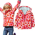Children Outerwear Windproof Waterproof Cotton Baby Girls Jackets Sporty Warm Child Coat Printing Kids Clothes For 2-6T