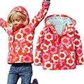Niños Bebés de Algodón prendas de Vestir Exteriores a prueba de Viento Impermeable Chaquetas de Abrigo Deportivo Niño Caliente de Impresión de Ropa Para Niños de 2-6 T