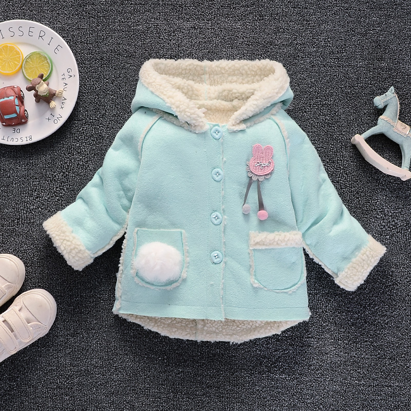 BibiCola baby girls jacket fur hooded girls coat new spring top autumn winter warm kids clothes outerwear baby tops girl coats цена