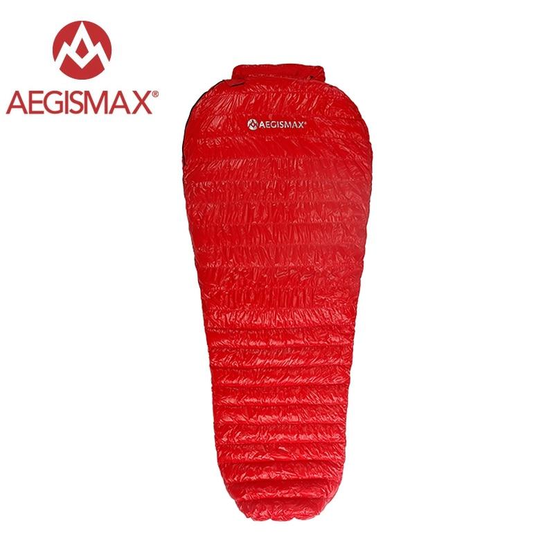 Aegismax New Mini Upgrade Sleeping Bag 95 White Goose Down Splicing Mummy Ultralight Hiking Camping 700