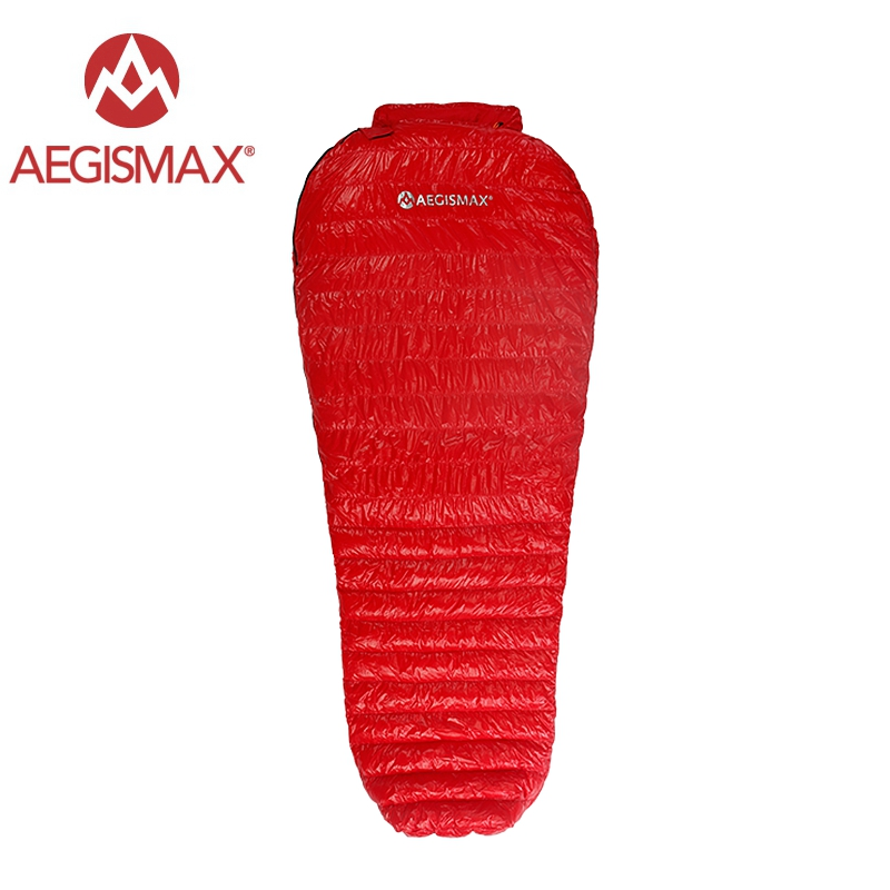 Aegismax New Mini Upgrade Sleeping Bag 95% White Goose Down Splicing Mummy Ultralight Hiking Camping 800 FP Nano Nano2 Red BlueAegismax New Mini Upgrade Sleeping Bag 95% White Goose Down Splicing Mummy Ultralight Hiking Camping 800 FP Nano Nano2 Red Blue