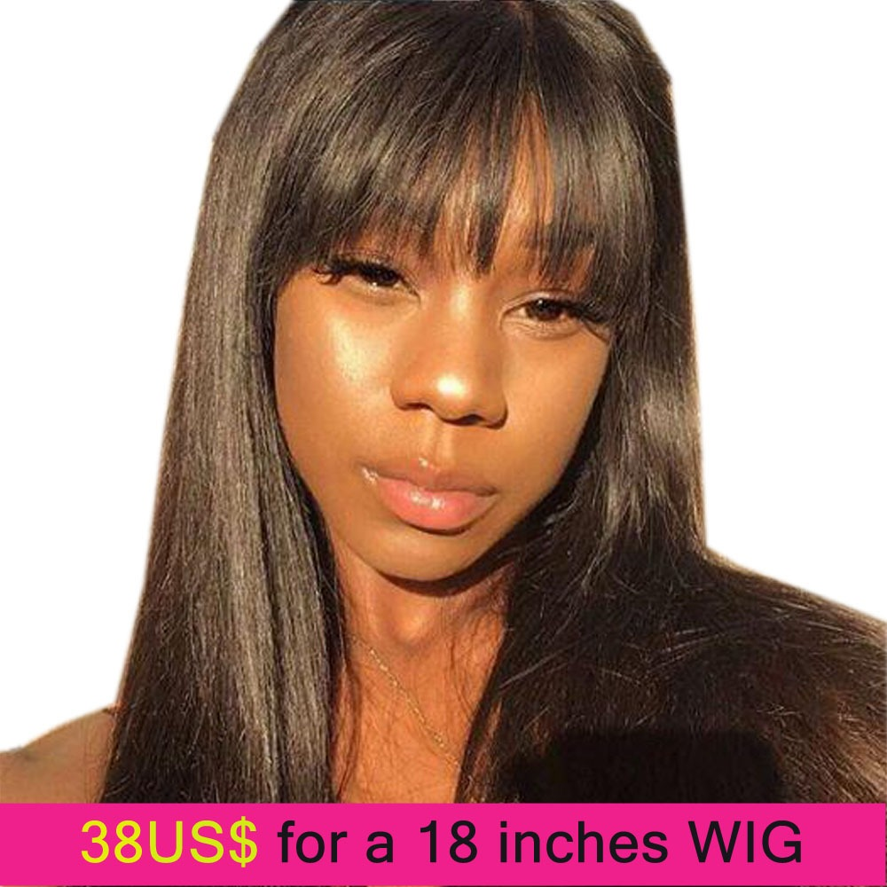 Lace Wigs Human Hair Lace Wigs Dependable Sapphire Fringe Front Human Hair Wigs With Bangs For Black Women Remy Brazilian Human Hair Wigs Pre Plucked Bang Wigs Human Hair Comfortable And Easy To Wear