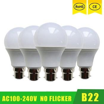 5pcs/lot Wholesale Led lamp SMD 2835 3W 6W 9W 12W 15W 21W LED Bulbs 110V 220V 230V 240V b22 Cold white warm lights