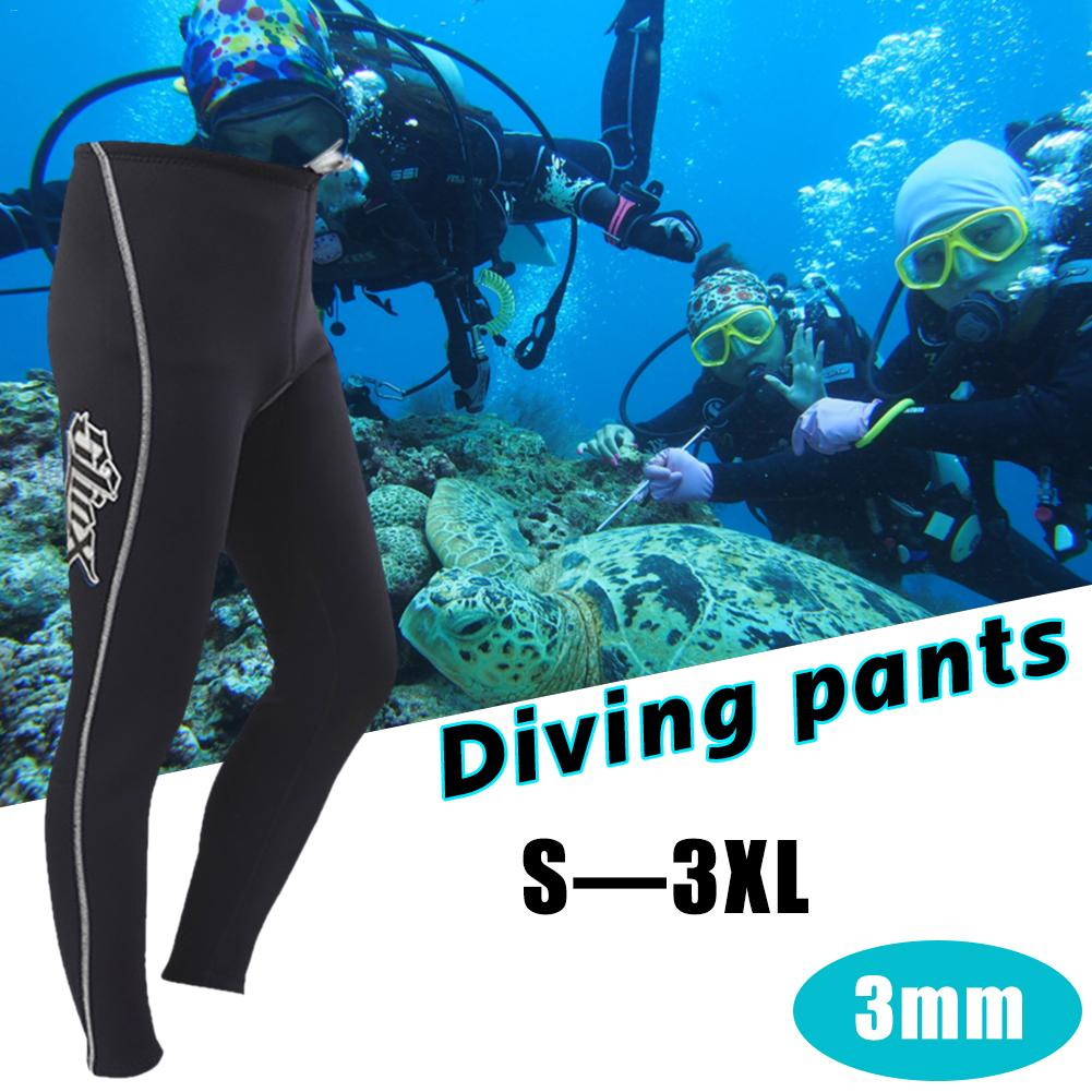 3MM Thickened Warm Neoprene Scuba Long Dive Trousers Snorkeling Pants Wetsuit Bottom Men Winter Swimming Trunks