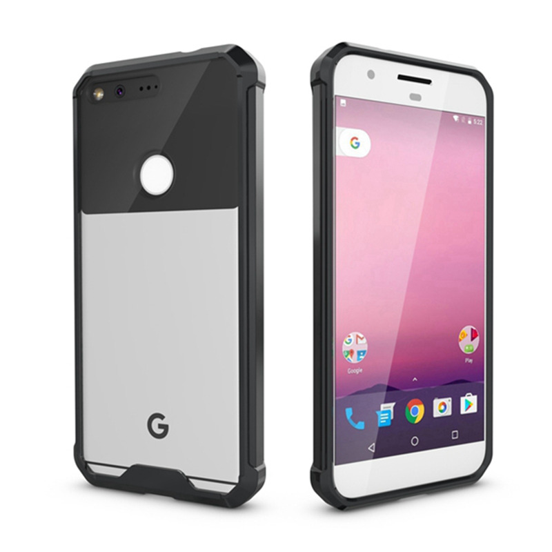 New Hybrid Armor Cover Air Cushion Tech Case With Crystal Clear Back Panel Shockproof Shell Mask For Google Pixel / Pixel XL