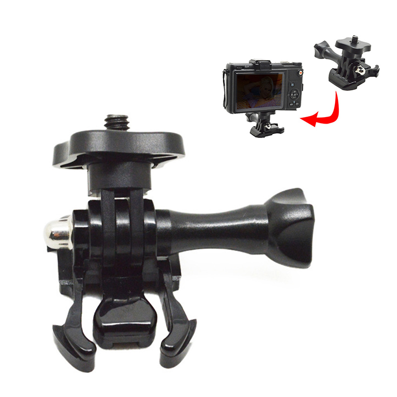 1 4 quot Thread Quick Release Tripod Mount Monopod Adapter for GoPro HD Hero 4 3 3 2 1 CAM Tripod Adapter for Xiaomi Yi Camera in Tripods from Consumer Electronics