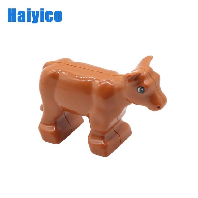 Farm Animals Big Building Blocks Accessories Pig Dog Cow Horse Crocodile Elephant Compatible with bricks Zoo Children Toys gift 3