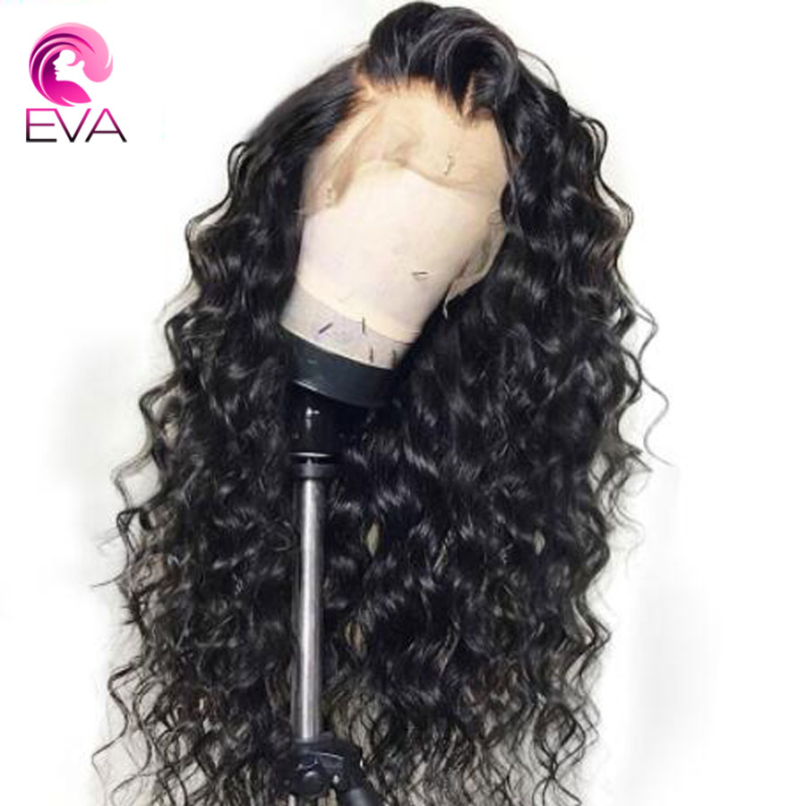 Eva Hair Full Lace Human Hair Wigs Pre Plucked Hairline With Baby Hair Curly Lace Wigs For Black Women Brazilian Remy Hair(China)