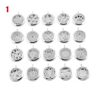 IJP0001 Cheap Wholesale 20pcs/lot Stainless Steel Round Aromatherapy/Essential Oil Diffuser Pendant Jewelry for Women and Men