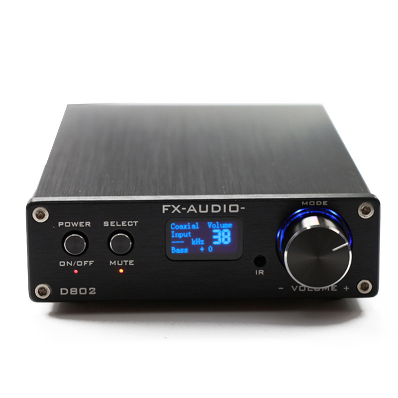 FX-Audio D802 USB Optical Fiber Coaxial Input Home Audio Hifi Pure Digital Amplifier 192 ...