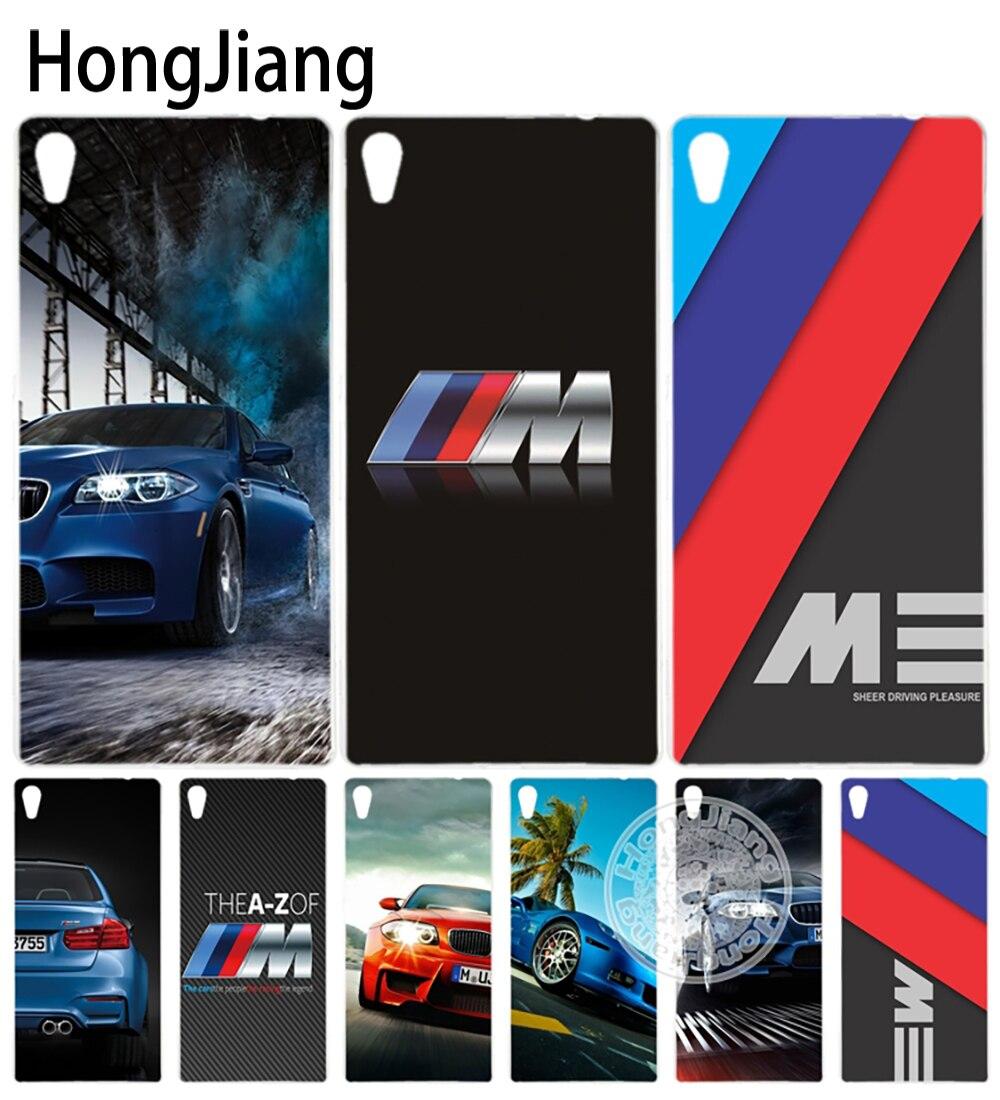 HongJiang luxury font b bmw b font M3 photo print Cover phone Case for sony xperia