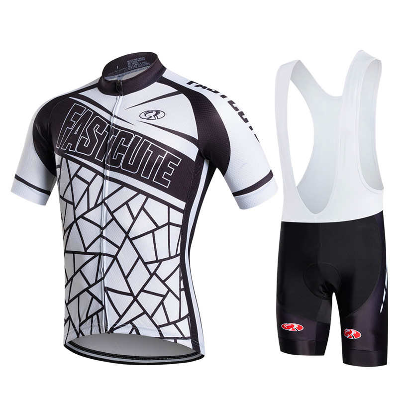 ФОТО Fastcute cycling jersey 2017 MEN Comfortable Tight NEW sleeve cycling sets Cheap ropa ciclismo Cycle Clothes Wear Sportswear