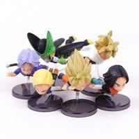 Dragon Ball Z Fliegen Super Saiyan Goku Gohan Android NO. 18 NO. 17 Cell Trunks PVC Figuren Spielzeug Brinquedos 6 teile/satz