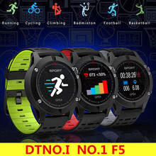 DTNO.I NO.1 F5 Smart Watch IP67 Waterproof Watch GPS Heart Rate Sleep Monitor Wristband Sport Smartwatch for Android IOS