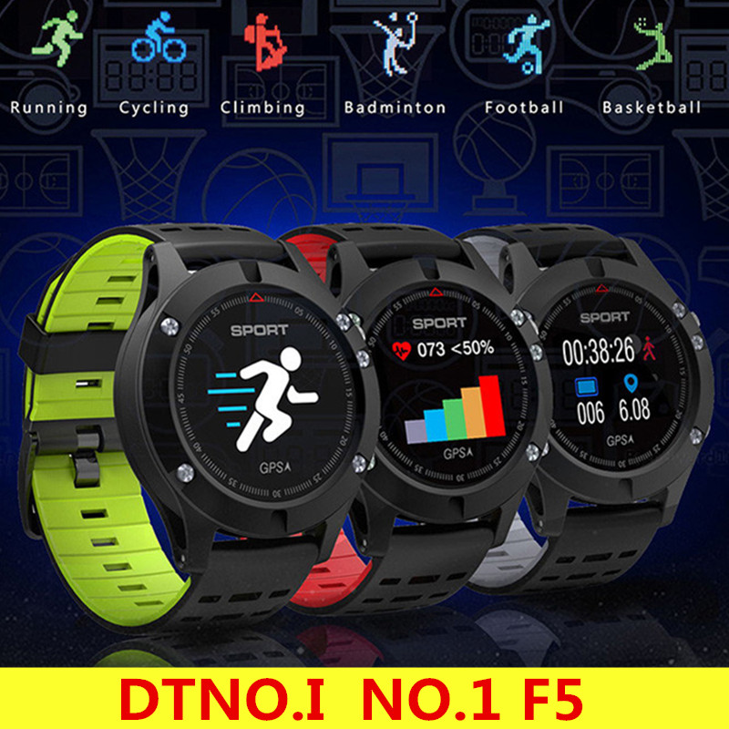 DTNO.I <font><b>NO.1</b></font> <font><b>F5</b></font> <font><b>Smart</b></font> <font><b>Watch</b></font> IP67 Waterproof <font><b>Watch</b></font> GPS Heart Rate Sleep Monitor Wristband Sport Smartwatch for Android IOS image