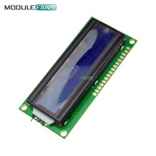 Blue 1601 16X1 Character Digital LCD Display Module LCM STN SPLC780D KS0066 LED Backlight 16 Single Row Interface Board(China)
