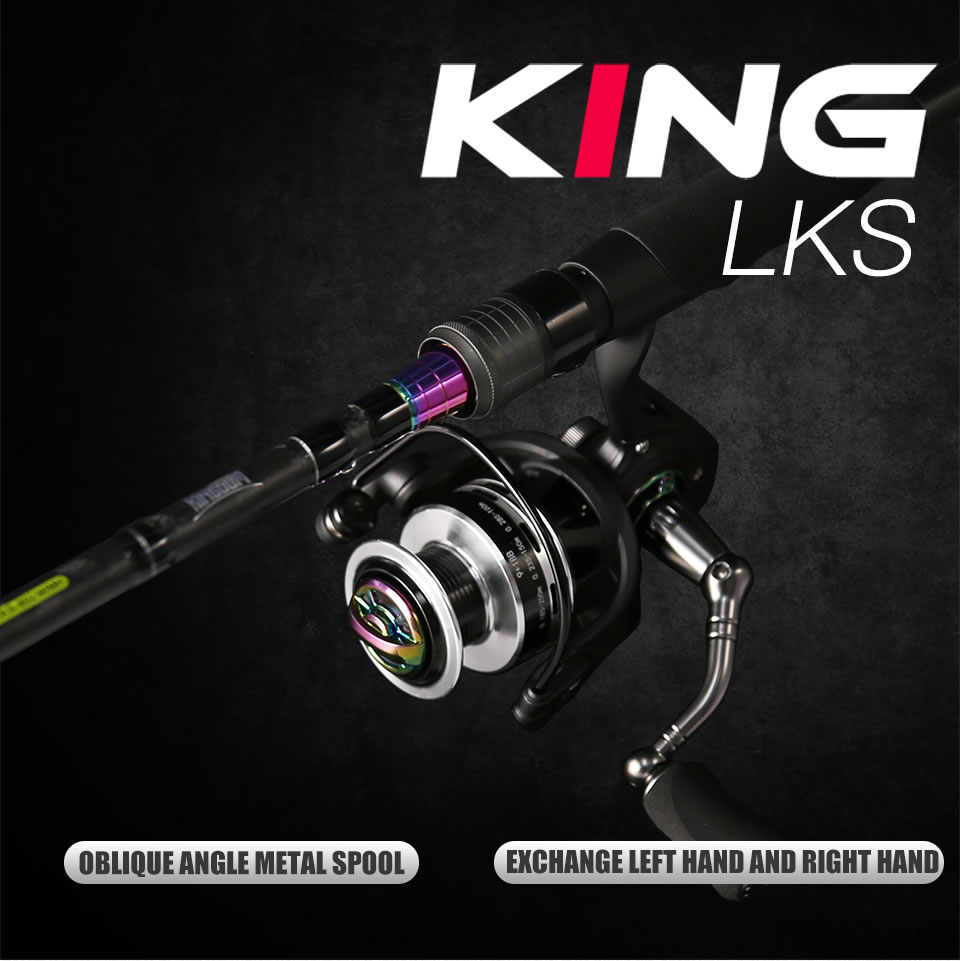 Kingdom KING II Spinning Rods Combo Casting Fishing Rod Reel Set 2 pc top section and 2 pc Power Lure Set Fishing Rod (17)