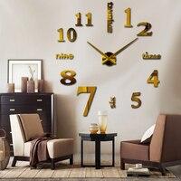 2018 Sale New Wall Clock Clocks Watch Stickers Diy 3d Acrylic Mirror Home Decoration Quartz Balcony/courtyard Needle europe hot