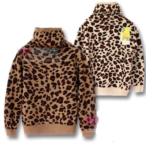Nueva Venta estampado de Leopardo Niño niño ropa de otoño e invierno suéter suéter de alta calidad ENVÍO LIBRE
