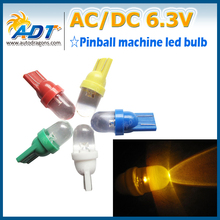 20 x amber red blue warm cold white green color led t10 w5w wedge base AC 6.3v clear lens pinball led bulbs