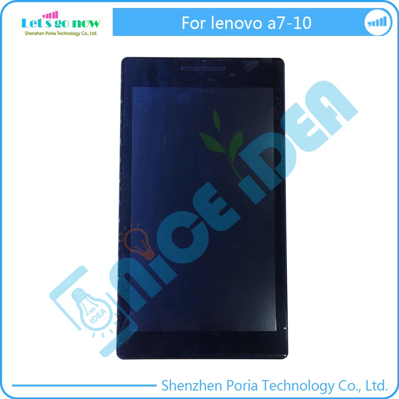 In Stock New 3 in 1 For Lenovo Tab 2 A7-10 LCD Display Touch Screen Digitizer Assembly with Frame For Lenovo A7-10