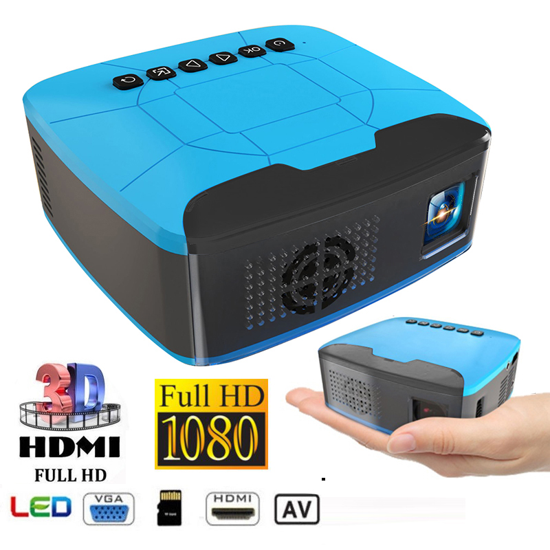 U20 Smart MINI Projector 1920*1080 Resolution LCD LED Projector 500 LM Portable HD Beamer for Home Theater Mini Cinema