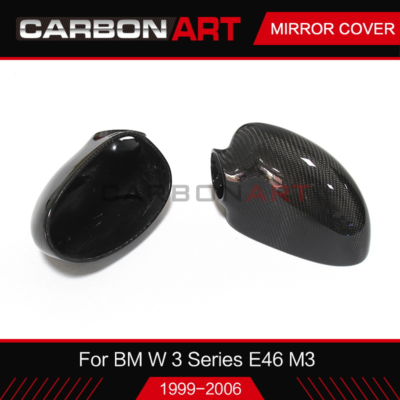 edd579dc401 For BMW E46 1998-2006 Car Styling Carbon Fiber Wing Door Rear view Mirrors  Cap E46 M3 Mirror Covers fashion carbon look