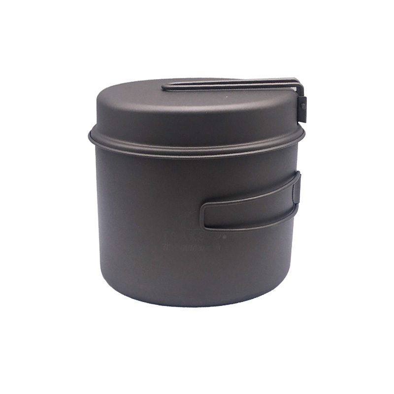 TOAKS 1100 ml batterie de cuisine ensemble ultra-léger titane Pot poêle Camping en plein air titane bol titane tasse pique-nique
