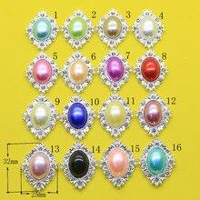 цена на 10pcs Pear Rhinestone Buttons Flower Shaped  Sewin cessories  Wedding decoraation/Flatback  for clothing bottons DIY accessories