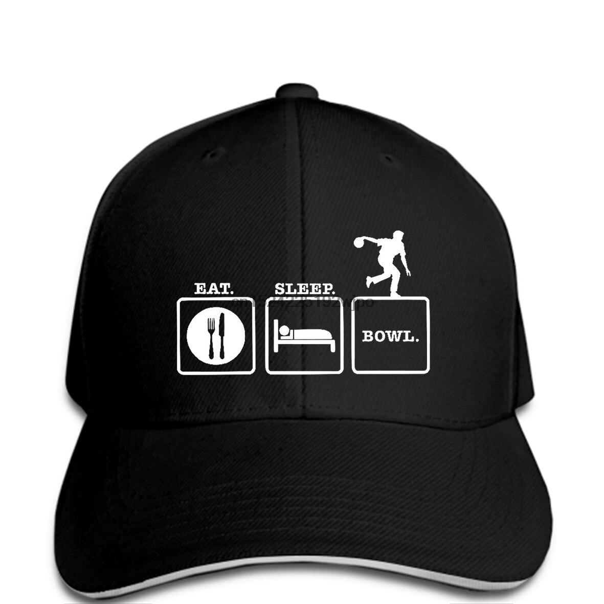 Official Website Eat Sleep Bowl Cap Bowlinger Bowlser Strike Pin Funny Birthday Gift 123t Metal Print Baseball Cap Men Factories And Mines Men's Hats