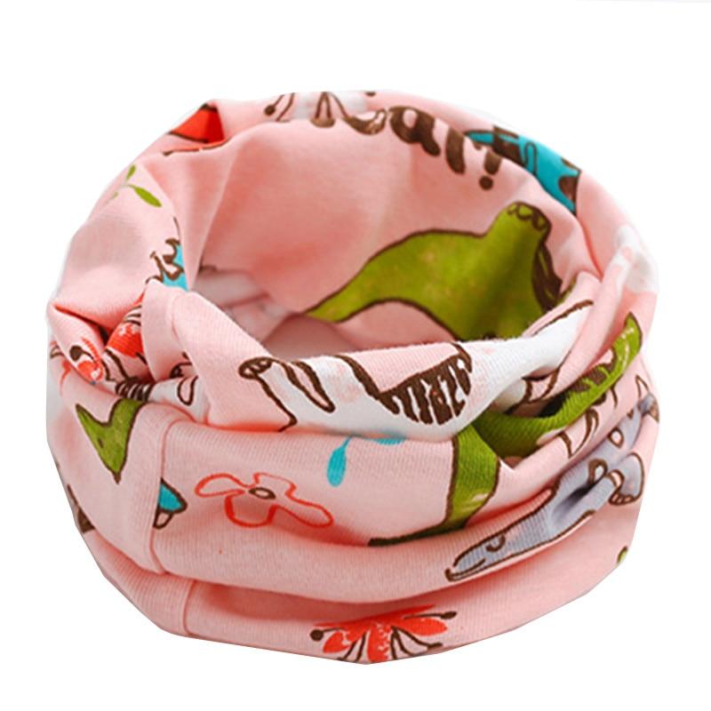 2019 New Autumn Winter Children Cotton Scarf Baby Kids Cartoon Scarf Boys Girls O Ring Scarves Child Collar Magic Neckerchief