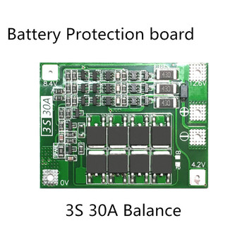 3S 30A BMS Board Balance current  11.1V 12.6V 18650 Lithium Battery Protection Board with equalization Drive drill 30A current Battery Accessories & Charger Accessories