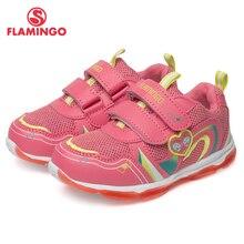Бренд Фламинго сетчатые дышащие кожаные стельки детская спортивная обувь весна-лето Размер 23-29 детские кроссовки для девочек 81K-BK-0584