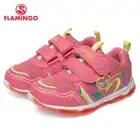 Кроссовки Фламинго для девочек 81K BK 0584, кожаная стелька, вид застежки липучка, подошва со светодиодами, для спорта и отдыха. - 1