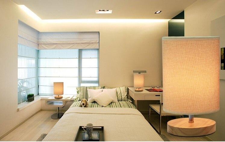 Tafel lampen moderne houten tafel verlichting voor huis