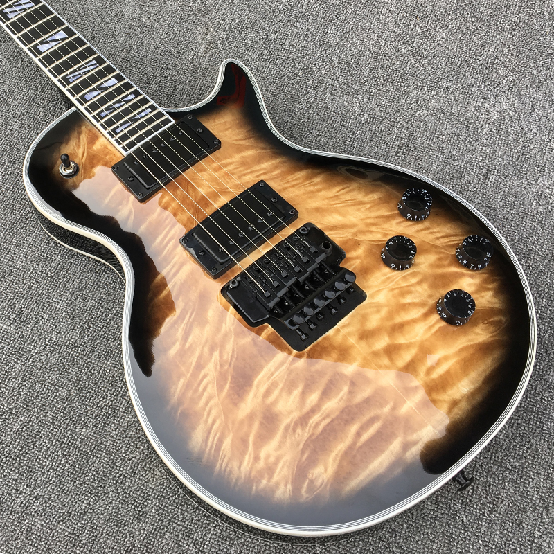 Custom Electric Guitar, Front And Back With Quilted Maple