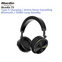 Original Bluedio T5 Active Noise Cancelling Wireless Bluetooth Headphone Portable Headset With Microphone For Phones And