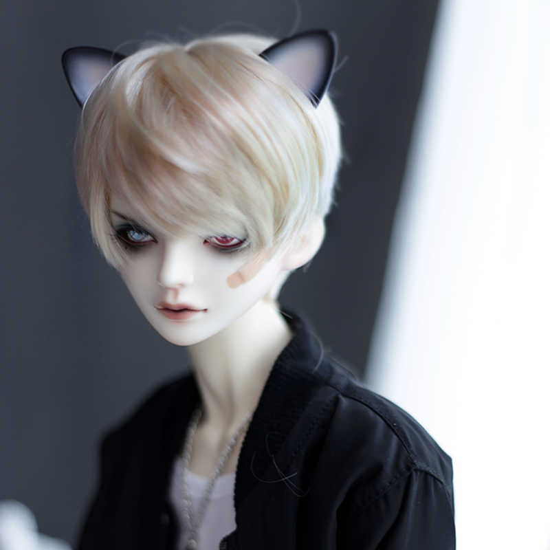 Allaosify Bjd peluca SD como muñeca de niño hermosa golden straight 1/3 1/4 1/6 pelucas de muñeca de alta temperatura bjd pelo envío gratis