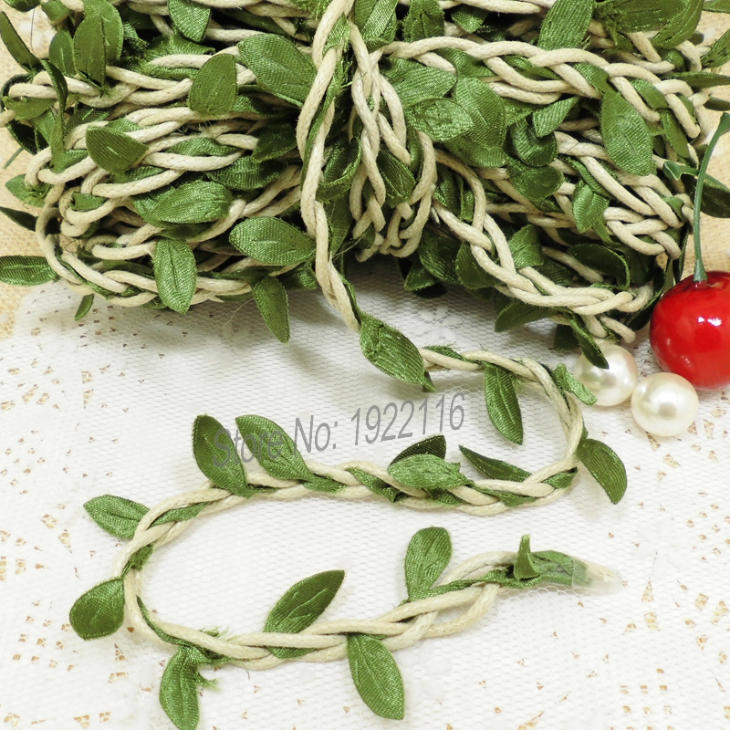 aliexpresscom buy 10m natural twine string with artificial leaf diy supplies vintage wedding decoration mariage rustic wedding decor scrapbooking from - Aliexpress Decoration Mariage