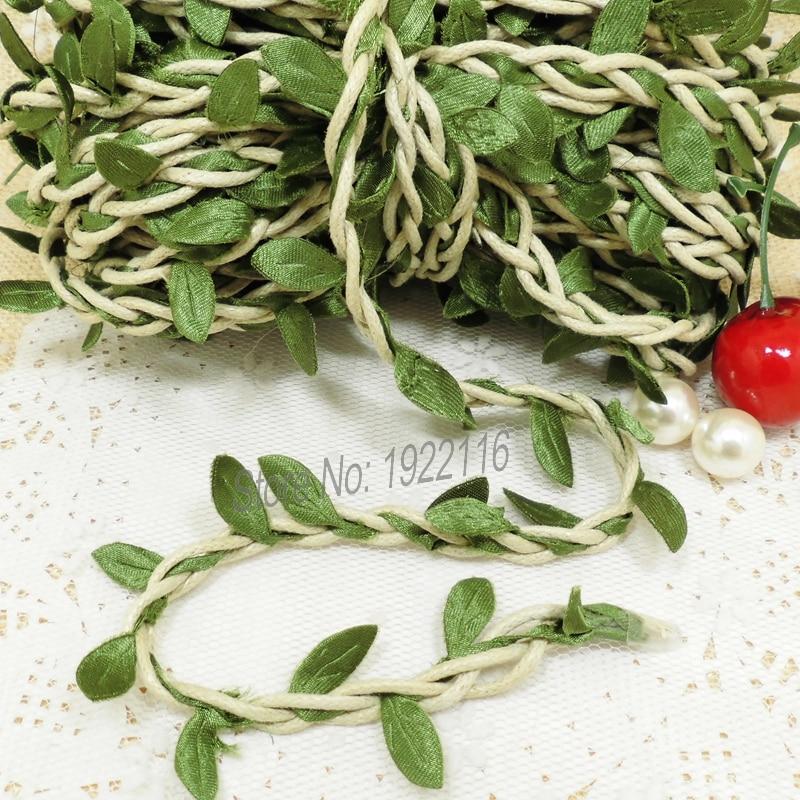 aliexpresscom buy 10m natural twine string with artificial leaf diy supplies vintage wedding decoration mariage rustic wedding decor scrapbooking from - Aliexpress Decoration Mariage