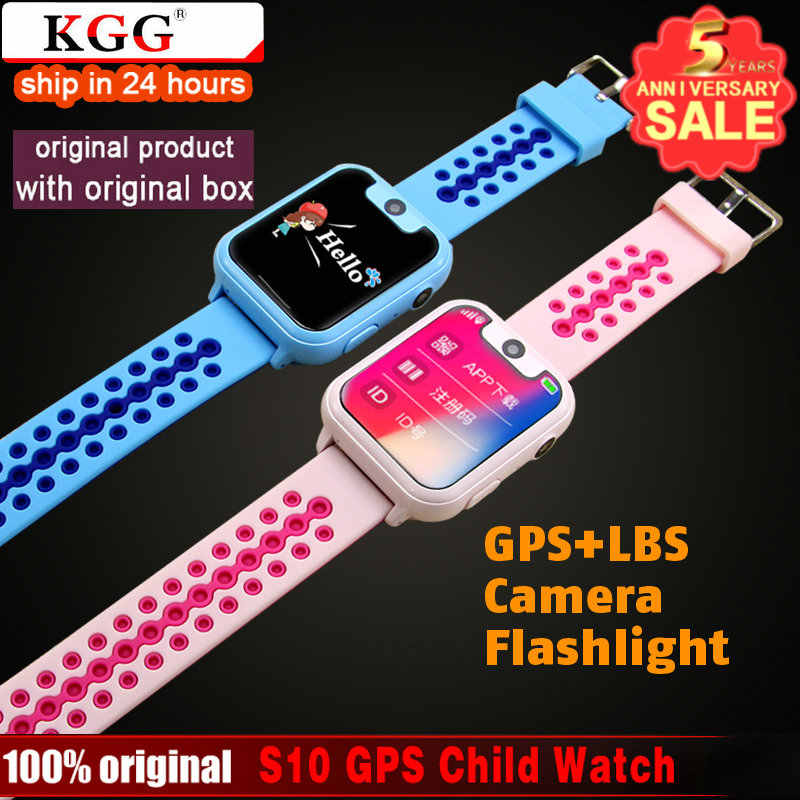 S10 GPS LBS Kids Smart Watch Waterproof Camera Sim Card Children SOS Call Location Finder Locator Tracker Baby GPS Watch